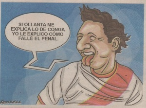 Editorial cartoon in Peruvian newspaper