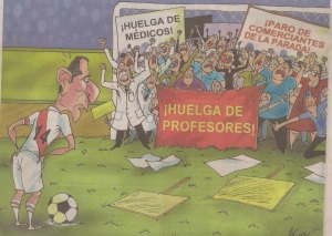Editoral cartoon in Peruvian newspaper
