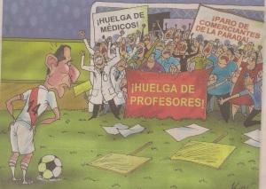 Editoral cartoon in Peruvian newspaper